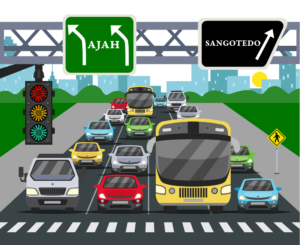 Traffic in Sangotedo Axis, expect more growth in real estate prices.
